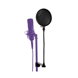 On Stage Stands ASVSR6GB Pop Blocker 6 Inch - Black with 2 Liners