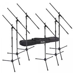 On Stage Stands MSP7706 6 Euroboom Mic Stands with Bag