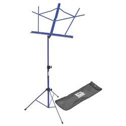 On Stage Stands SM7122DBB Dark Blue Compact Sheet Music Stand with Bag