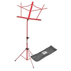 On Stage Stands SM7122RDB Red Compact Sheet Music Stand with Bag