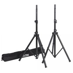 On Stage Stands SSP7950 All Aluminum Speaker Stand Pak with Zippered Bag