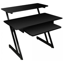 On Stage Stands WS7500B Black WS7500 Series Wood Workstation