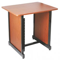 On Stage Stands WSR7500RB Rosewood WS7500 Series Workstation Rack Cabinet