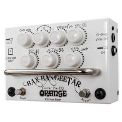 Orange BAX BANG GEETAR WH Pre-EQ Foot Switch in White Casing