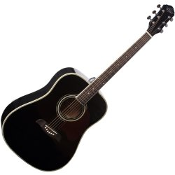 Oscar Schmidt OG2B Dreadnought Acoustic RH 6 Str. Guitar - Black