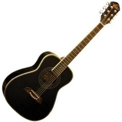 Oscar Schmidt OGHSB 1/2 Size Dreadnought Acoustic RH 6 String Guitar - Black