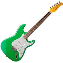 Oscar Schmidt OS-300-SFG Solid Body Strat-Style Electric Guitar  - Surf Green