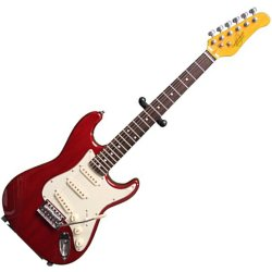 Oscar Schmidt OS30TR 3/4 Size Electric Guitar - Trans Red