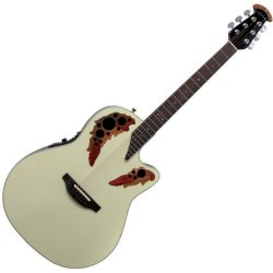 Ovation 2778AX-6P Pro Elite Standard RH Acoustic-Electric 6 String Guitar - White Pearl