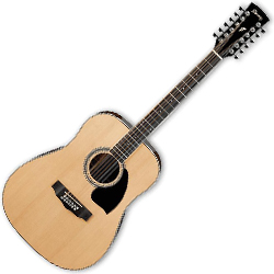 Ibanez PF1512-NT PF Series 12 String Acoustic Guitar in Natural High Gloss (Discontinued Clearance)