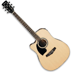 Ibanez PF15LECE-NT PF Series 6 String Left Handed Acoustic Electric Guitar in Natural High Gloss ** DISCONTINUED CLEARANCE