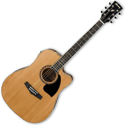 Ibanez PF17ECE-LG-d PF Series 6 String Acoustic Electric Guitar in Natural Low Gloss (discontinued clearance)  (Prior Year Model)