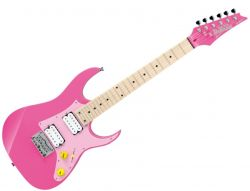 Ibanez GRGM21MCGB-PNK Mikro RH 6 String Electric Guitar in Pink Finish - Discontinued Clearance
