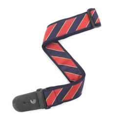 Planet Waves T20W1410 Tie Stripes Guitar Strap-Blue and Red