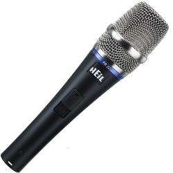 Heil Sound PR22-SUT Dynamic Microphone with Switch in Black