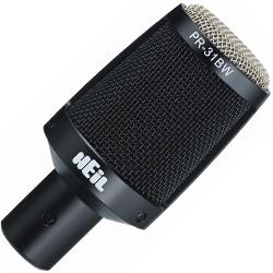 Heil Sound PR31BW Dynamic Drum Microphone in Black