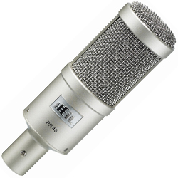 Heil Sound PR 40 Dynamic Microphone with 1.5 Inch Diaphragm in Silver (discontinued clearance)