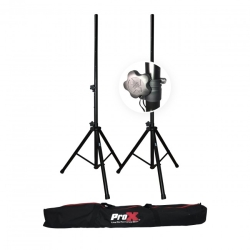ProX T-SS18P Pro Twin Speaker 6 ft. Stands Set with Bag