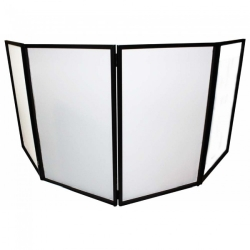 ProX XF-4X3048B DJ Facade 4x Black Collapse and Go Facade Panels with Carry Bag and Black/White Scrims