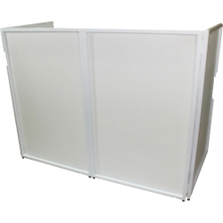 ProX XF-4X3048W DJ Facade 4x White Collapse and Go Facade Panels with Carry Bag and Black & White Scrims