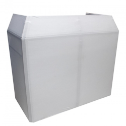 ProX XF-MESA MK2 Mesa DJ Facade Table Station Includes White & Black Scrims and Padded Carry Bag