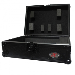 ProX XS-CDBL ATA Flight Hard Case for CD Player for Large Format Media Player-Black on Black