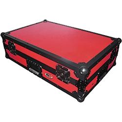 ProX XS-DDJ1000WLTRB Digital Controller Flight Case with Laptop Shelf & Wheels for Pioneer DDJ1000-Red on Black