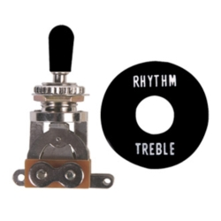 Profile SW20-BK Gibson Style 3-Way Toggle Switch-Black