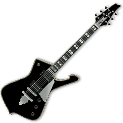 Ibanez PS120-BK Paul Stanley Signature 6 String Solid Body Electric Guitar in Black