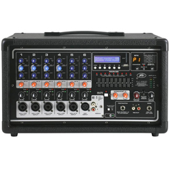 Peavey 03601840 Bluetooth Enabled PVi 6500 400W All In One Powered Mixer with Crystal Clear Audio Reproduction