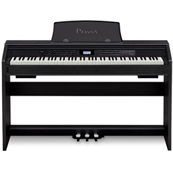 Casio PX780BK Upright Privia 88 Key Weighted Scaled Hammer Action MIDI Keyboard with Stand and Pedal