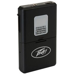 Peavey 03010590 Assisted Listening 72.9 MHz Wireless Receiver, 100Hz-15kHz Frequency Response
