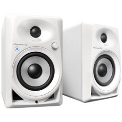 Pioneer DJ DM-40BT-W White 4 Inch Desktop Active Monitor Speakers with Bluetooth