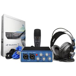 PreSonus AUDIOBOX USB96 STUDIO AudioBox 96 USB 2.0 Audio Recording Interface with Headphones and Mic