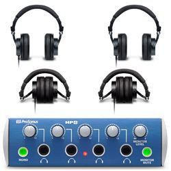 Presonus HP4/HP9 Bundle Headphone Amplifier and 4 Hi-Res Headphones