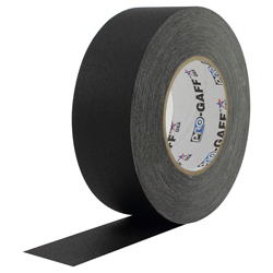 "Pro Tape PRO GAFF 2 BLACK Professional Gaff Tape 2"" x 55 Yds in Black"