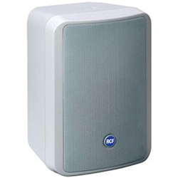 RCF MONITOR 44TW Compact 100V 60W 2 Way Reflex Speaker in White with Transformer