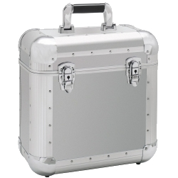 Reloop 60 Record Case Silver Club Series 60 12 Inch Vinyl Record Box Case-Silver