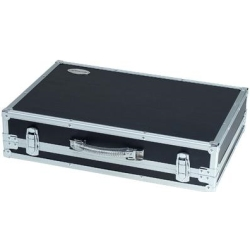 """RockCase RC23010B Effects Pedalboard Flight Case with Removable Lid 23 7/16 x 15 9/16 x 3 15/16""""-Black"""