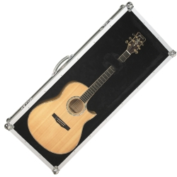 RockCase RC10906B Perspex Show Wall Display Case for Acoustic Guitar-Black-Discontinued Clearance