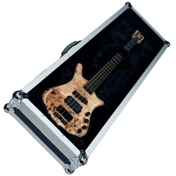 RockCase RC10909B Perspex Show Wall Display Case for Bass Guitar-Black-Discontinued Clearance