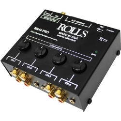 """Rolls MX44 Pro 4-Channel Stereo RCA & 1/8"""" Mixer"""