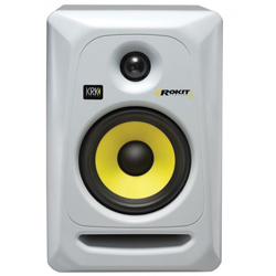KRK RP5-G3/W Powered Studio Monitor in White with 5 Inch Woofer
