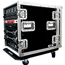 "Road Ready RR14UAD24W Amplifier Deluxe Case – 24"" body depth with Caster Board – 1/2"" plywood"