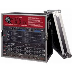 "Road Ready RR8UED 8U Deluxe Effect Rack Case - 14"" body depth"