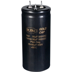 Ruby Tubes CD50X50M500 Marshall Dual Can Capacitor