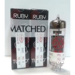 Ruby Tubes EL84CZ-2 JJ Duet Matched Power Amplifier Tubes