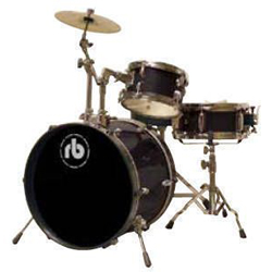 Rhythm Band RBJR3-BK Black 3 Piece Junior Acoustic Drum Kit