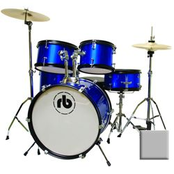 Rhythm Band RBJR5-SGR Sparkle Grey 5 Piece Junior Acoustic Drum Kit