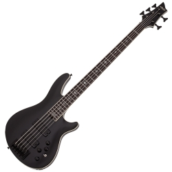 Schecter 1395-SHC SLS Elite-5 Evil Twin RH 5-String Electric Bass-Satin Black
